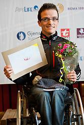 FLEIG Martin, GER, Short Distance Biathlon Podium, 2015 IPC Nordic and Biathlon World Cup Finals, Surnadal, Norway