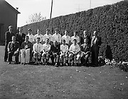 28/04/1962<br /> 04/28/1962<br /> 28 April 1962<br /> Schoolboys Hockey International Ireland v England at Londonbridge Road, Dublin. The English team.