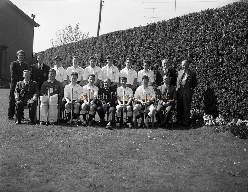 28/04/1962<br /> 04/28/1962<br /> 28 April 1962<br /> Schoolboys Hockey International Ireland v England at Londonbridge Road, Dublin. The English team.