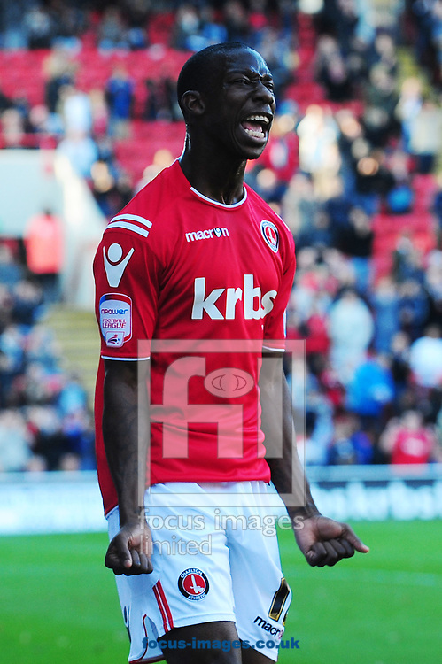Picture by Alex Broadway/Focus Images Ltd.  07905 628187.22/10/11.Bradley Wright-Phillips of Charlton celebrates his goal during the Npower League One match at The Valley stadium, London.