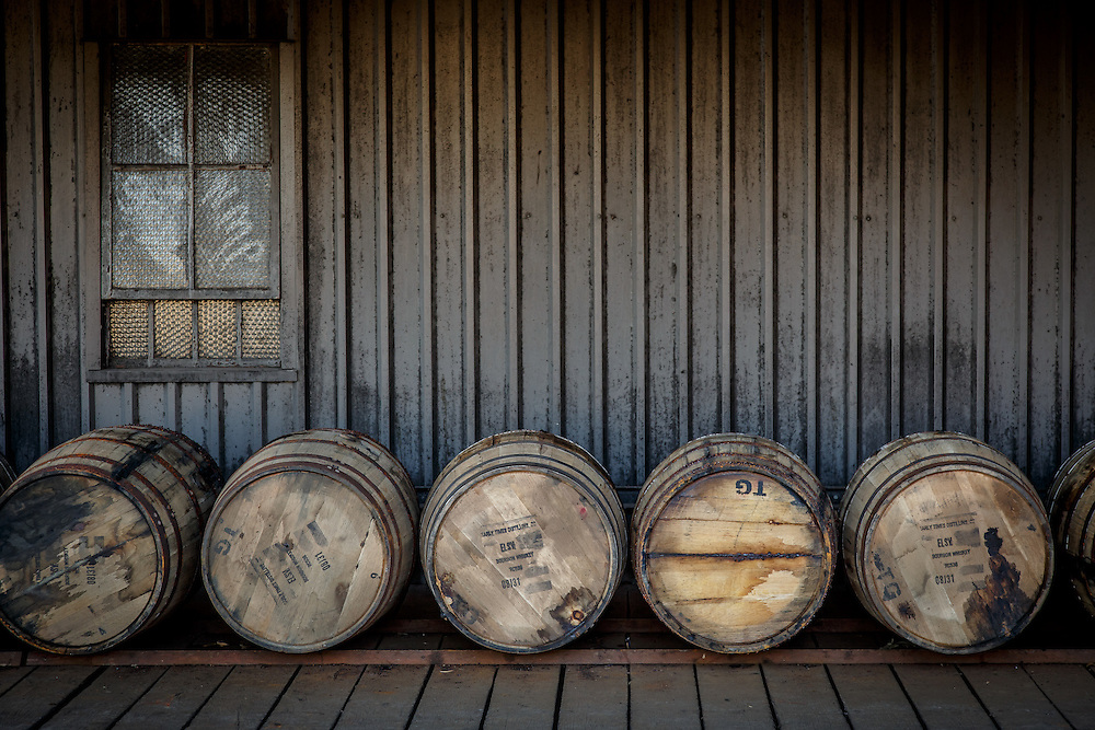 Barrels are transferred into Stitzel-Weller Distillery in the Shively area of Louisville, Kentucky, January 30, 2015. Gary He/DRAMBOX MEDIA LIBRARY