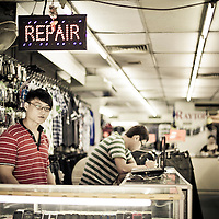 Repair shop in downtown Kuala Lumpur