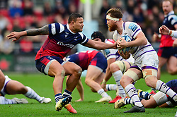 Alapati Leiua of Bristol Bears tackles Brendon O'Connor of Leicester Tigers - Mandatory by-line: Dougie Allward/JMP - 01/12/2018 - RUGBY - Ashton Gate Stadium - Bristol, England - Bristol Bears v Leicester Tigers - Gallagher Premiership Rugby