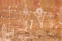 Fremont style pictographs, Sego Canyon Utah