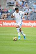 Marcos Lopez of San Jose Earthquakes during a MLS soccer game against the New York City FC, Saturday, Sept. 14, 2019, in New York.NYCFC defeated San Jose Earthquakes 2-1.(Errol Anderson/Image of Sport)
