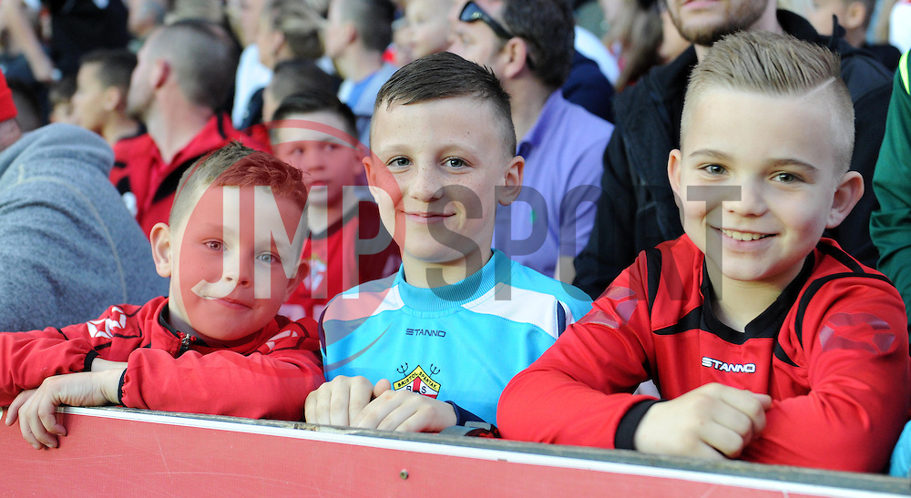 Young Bristol City supporters at the League One clash with Swindon Town - Photo mandatory by-line: Paul Knight/JMP - Mobile: 07966 386802 - 07/04/2015 - SPORT - Football - Bristol - Ashton Gate Stadium - Bristol City v Swindon Town - Sky Bet League One
