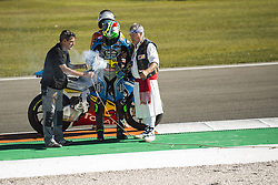 November 12, 2017 - Valencia, Valencia, Spain - 21 Franco Morbidelli (Ita) Eg 0,0 Marc Vds Kalex celebrates his Moto2 championship during the Gran Premio Motul de la Comunitat Valenciana, Circuit of Ricardo Tormo,Valencia, Spain. Sunday 12th of november 2017. (Credit Image: © Jose Breton/NurPhoto via ZUMA Press)
