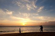 Wedding Photo, Sunset, Kaanapali Beach, Maui, Hawaii