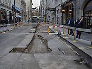 Roadworks, St. james, London, 18 February 2016
