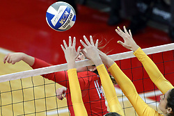 07 October 2017:  Lexi Wallen & Taylor Graboski during a college women's volleyball match between the Crusaders of Valparaiso and the Illinois State Redbirds at Redbird Arena in Normal IL (Photo by Alan Look)