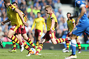 Burnley defender Ben Mee (6) during the Sky Bet Championship match between Brighton and Hove Albion and Burnley at the American Express Community Stadium, Brighton and Hove, England on 2 April 2016.