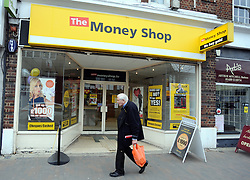 © Licensed to London News Pictures. 06/03/2013.The Money Shop,Orpington,Kent..The UK's biggest payday loans firms are facing the prospect of being put out of business unless they implement swift changes to their practices within 12 weeks..The ultimatum was issued by the Office of Fair Trading (OFT) following a wide-ranging investigation of the controversial sector .Lenders will also be required to make sure that interest rates are clearly displayed.Photo credit : Grant Falvey/LNP