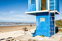 Lifeguard station in Morro dos Conventos Beach. Araranguá, Santa Catarina, Brazil. / <br /> Posto de salva vidas na Praia do Morro dos Conventos. Araranguá, Santa Catarina, Brasil.