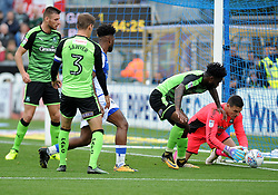 Kyle Letheren of Plymouth Argyle gathers a loose ball - Mandatory by-line: Neil Brookman/JMP - 30/09/2017 - FOOTBALL - Memorial Stadium - Bristol, England - Bristol Rovers v Plymouth Argyle - Sky Bet League One
