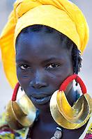 Mali - Djenné - Village de Senossa - Ethnie Peul - Bijou traditionel en or