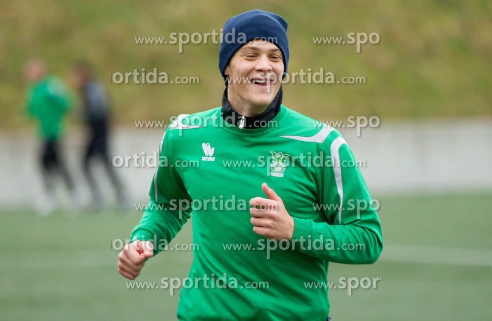 Filip Valencic of NK Olimpija Ljubljana exercise during the first day of team Spring Training on January 7, 2013 in Ljubljana, Slovenia. (Photo By Vid Ponikvar / Sportida.com)