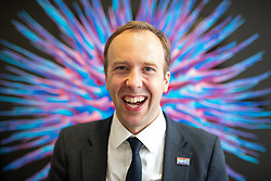 © Licensed to London News Pictures .FILE PICTURE DATED 06/09/2018. Salford , UK . Secretary of State for Health and Social Care MATT HANCOCK poses for portraits in front of a computer generated image hung on a wall in a corridor of Salford Royal Hospital (formerly Hope Hospital) . Photo credit : Joel Goodman/LNP
