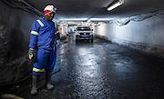 Miner preparing for work