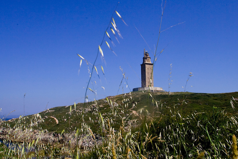 (A Coruña, Spain - June 6, 2011) - The Tower of Hercules in A Coruña on the first weekend in June. Photo by Will Nunnally / Will Nunnally Photography