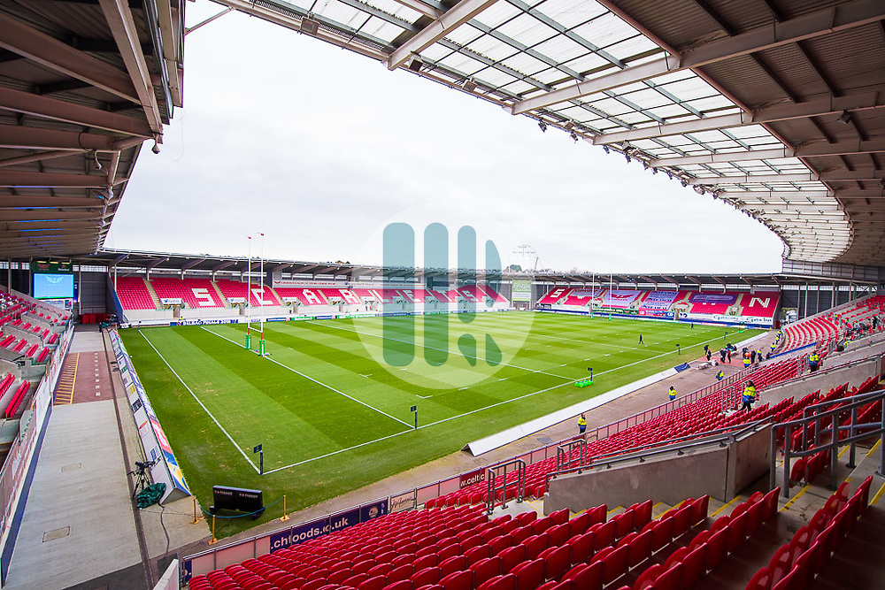 A general view of Parc Y Scarlets, home of Scarlets - Mandatory by-line: Craig Thomas/JMP - 09/12/2017 - RUGBY - Parc y Scarlets - Llanelli, Wales - Scarlets v Benetton Rugby - European Rugby Champions Cup