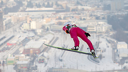 03.01.2015, Bergisel Schanze, Innsbruck, AUT, FIS Ski Sprung Weltcup, 63. Vierschanzentournee, Innsbruck, Training, im Bild Kamil Stoch (POL) // Kamil Stoch of Poland soars through the air during a trainings jump for the 63rd Four Hills Tournament of FIS Ski Jumping World Cup at the Bergisel Schanze in Innsbruck, Austria on 2015/01/03. EXPA Pictures © 2015, PhotoCredit: EXPA/ JFK