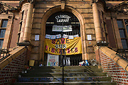 In the final hours before the closure, locals use the facilities of Carnegie Library, Herne Hill, SE24, in the south London borough of Lambeth, which has angered the local community who have occupied their important resouce for learning and social hub. After a long campaign by locals, Lambeth council have gone ahead and closed the library's doors for the last time at 6pm because, they say, cuts to their budget mean millions must be saved. A gym will replace the working library and while some of the 20,000 books on shelves will remain, no librarians will be present to administer it. London borough's budget cuts mean four of its 10 libraries will either close, move or be run by volunteers. (Photo by Richard Baker / In Pictures via Getty Images).