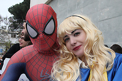 April 28, 2017 - Naples, Italy - The Comicon 2017 in Naples a comic book review during the 19th edition Comicon, it will take place from 28 April to 1 May 2017 at the Mostra d'Oltremare di Napoli. (Credit Image: © Salvatore Esposito/Pacific Press via ZUMA Wire)