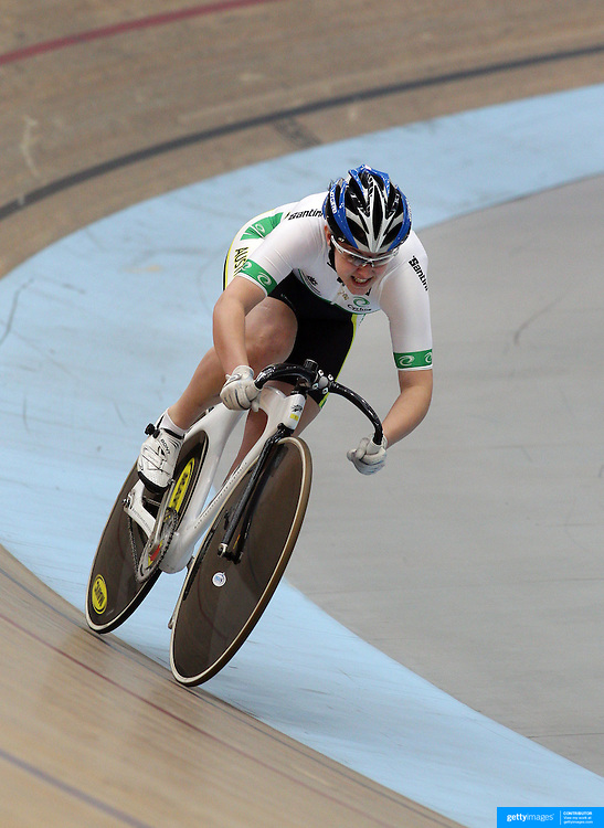 Maddison Law, Australia, in action in the Women Team Sprint at the 2012 Oceania WHK Track Cycling Championships, Invercargill, New Zealand. 21st November  2011. Photo Tim Clayton
