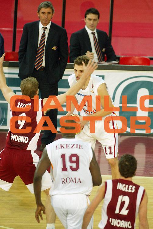 DESCRIZIONE : Roma Lega A1 2005-06 Lottomatica Virtus Roma Basket Livorno <br /> GIOCATORE : Pesic <br /> SQUADRA : Lottomatica Virtus Roma <br /> EVENTO : Campionato Lega A1 2005-2006 <br /> GARA : Lottomatica Virtus Roma Basket Livorno <br /> DATA : 04/02/2006 <br /> CATEGORIA : <br /> SPORT : Pallacanestro <br /> AUTORE : Agenzia Ciamillo-Castoria/G.Ciamillo