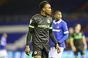 Forest Green Rovers Shawn McCoulsky(21) during the EFL Sky Bet League 2 match between Oldham Athletic and Forest Green Rovers at Boundary Park, Oldham, England on 12 January 2019.