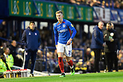 Ross McCrorie (15) of Portsmouth feels the back of his leg during the EFL Sky Bet League 1 match between Portsmouth and Ipswich Town at Fratton Park, Portsmouth, England on 21 December 2019.