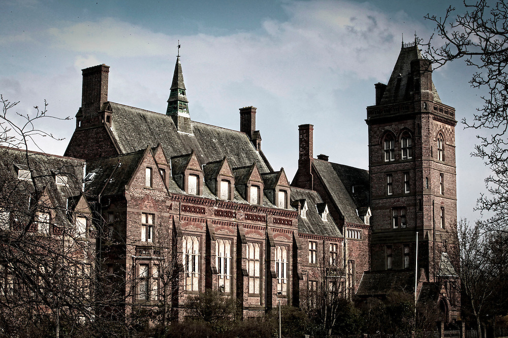 Newsham Hospital and former orphanage in Liverpool now closed and abandoned and a site of interest for people wishing to communicate with the spirit world