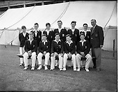 1956 - Belvedere College cricket team at College Grounds, Jones Road