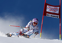 14.12.2013, Engiadina, St. Moritz, SUI, FIS Weltcup Ski Alpin, St. Moritz, Riesentorlauf, Damen, 1. Durchgang, im Bild Tessa Worley (FRA) // in action during the 1st run of ladies Giant Slalom of the St. Moritz FIS Ski Alpin World Cup at the Engiadina in St. Moritz, Switzerland on 2013/12/14. EXPA Pictures © 2013, PhotoCredit: EXPA/ Freshfocus/ Christian Pfander<br /> <br /> *****ATTENTION - for AUT, SLO, CRO, SRB, BIH, MAZ only*****