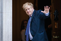 © Licensed to London News Pictures. 28/10/2019. London, UK. Prime Minister Boris Johnson outside 10 Downing Street. The EU has agreed to extend the Brexit deadline. Later today MPs will vote on whether to hold a general election in early December. Photo credit: Rob Pinney/LNP