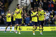 Oxford United players congratulating fans after the EFL Cup match between Oxford United and West Ham United at the Kassam Stadium, Oxford, England on 25 September 2019.