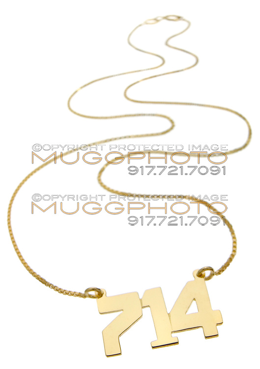 area code 714 gold necklace