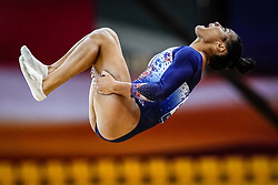 October 28, 2018 - Doha, Quatar - Marine Boyer of  France   during  Floor  qualification at the Aspire Dome in Doha, Qatar, Artistic FIG Gymnastics World Championships on 28 of October 2018. (Credit Image: © Ulrik Pedersen/NurPhoto via ZUMA Press)