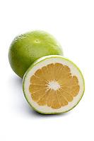 Grapefruits on white background - close-up