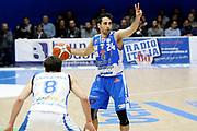 DESCRIZIONE : Capo dOrlando Lega A BEKO 2015-16 Betaland Orlandina Basket Banco di Sardegna Sassari  <br /> GIOCATORE :  Rok Stipcevic<br /> CATEGORIA :  Schema Palleggio<br /> SQUADRA : Betaland Upea Capo dOrlando <br /> EVENTO : Campionato Lega A BEKO 2015-2016 <br /> GARA : Betaland Orlandina Basket Banco di Sardegna Sassari<br /> DATA : 30/11/2015<br /> SPORT : Pallacanestro <br /> AUTORE : Agenzia Ciamillo-Castoria/G. Pappalardo <br /> Galleria : Lega Basket A BEKO 2015-2016 <br /> Fotonotizia : Capo dOrlando Lega A BEKO 2015-16 Betaland Orlandina Basket Banco di Sardegna Sassari