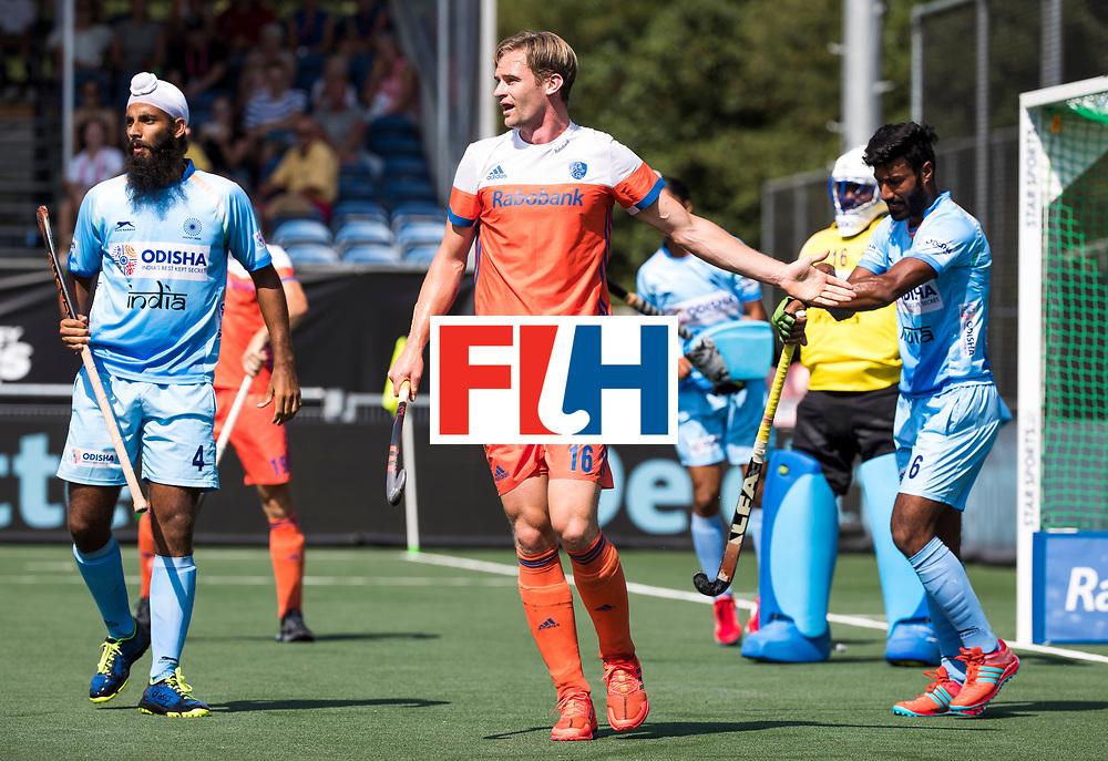 BREDA - Mirco Pruyser (Ned) tijdens Nederland- India (1-1) bij  de Hockey Champions Trophy.  COPYRIGHT KOEN SUYK