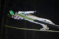 Poland, Wisla Malinka - 2017 November 18: Peter Prevc from Slovenia soars in the air during FIS Ski Jumping World Cup Wisla 2017/2018 - Day 1 at jumping hill of Adam Malysz on November 18, 2017 in Wisla Malinka, Poland.<br /> <br /> Mandatory credit:<br /> Photo by © Adam Nurkiewicz<br /> <br /> Adam Nurkiewicz declares that he has no rights to the image of people at the photographs of his authorship.<br /> <br /> Picture also available in RAW (NEF) or TIFF format on special request.<br /> <br /> Any editorial, commercial or promotional use requires written permission from the author of image.