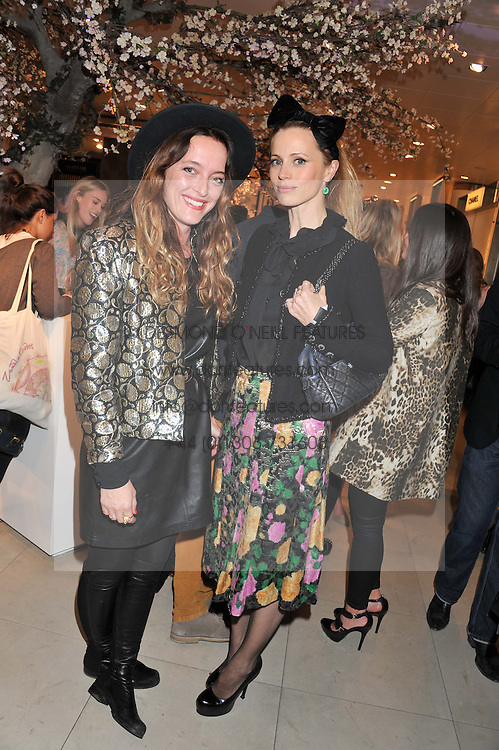 Left to right, ALICE TEMPERLEY and LAURA BAILEY at the launch of the new John Lewis Beauty Hall, John Lewis, Oxford Street, London on 8th May 2012.