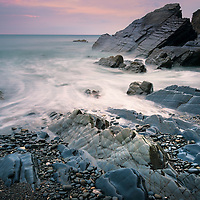 Stowe cliff tide, Sandymouth, Cornwall, England