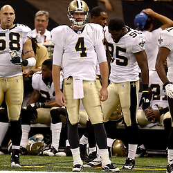 August 21, 2010; New Orleans, LA, USA; New Orleans Saints quarterback Sean Canfield (4) during a 38-20 win by the New Orleans Saints over the Houston Texans during a preseason game at the Louisiana Superdome. Mandatory Credit: Derick E. Hingle