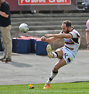 Luke Gale of Bradford Bulls adds 2 points during the First Utility Super League match at Odsal Stadium, Bradford<br /> Picture by Richard Land/Focus Images Ltd +44 7713 507003<br /> 01/06/2014