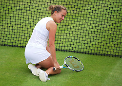 26.06.2012, Wimbledon, London, GBR, WTA, The Championships Wimbledon, im Bild Barbora Zahlavova Strycova (CZE) during day two of the WTA Tour Wimbledon Lawn Tennis Championships at the All England Lawn Tennis and Croquet Club, London, Great Britain on 2012/06/26. EXPA Pictures © 2012, PhotoCredit: EXPA/ Propagandaphoto/ David Rawcliff..***** ATTENTION - OUT OF ENG, GBR, UK *****