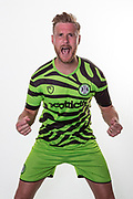 Forest Green Rovers Matt Mills(5) during the official team photocall for Forest Green Rovers at the New Lawn, Forest Green, United Kingdom on 29 July 2019.