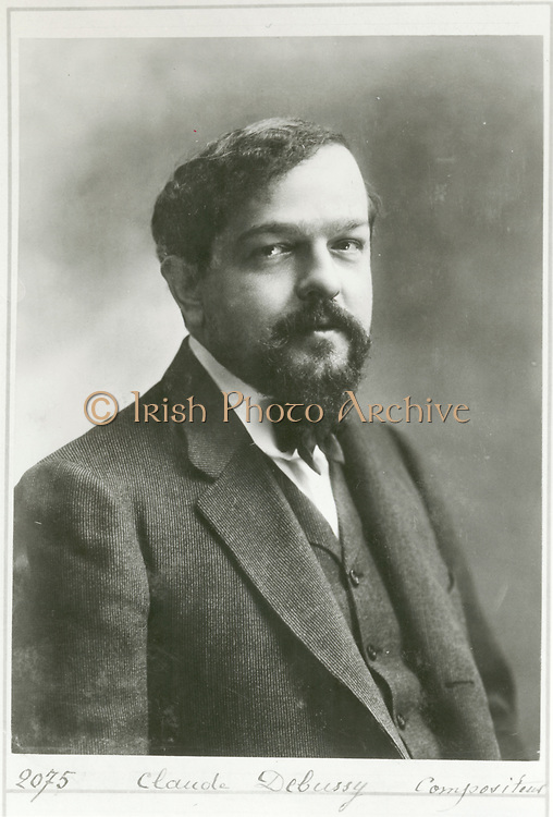 Claude Achille Debussy (1862-1918) French composer c1908. Influential in the transition into the modern era of Western music. Photograph by 'Nadar' (Gaspard-Felix Tournachon)