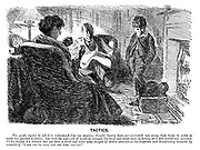 """Tactics. The gentle reader is asked to understand that one morning Harold, having been over-corrected, ran away from home in order to teach his parents a lesson; but, with the approach of night, he changed his mind and slunk back, reckoning on a fine fatted-calf welcome. To his disgust his absence has not been noticed, and after some thought he draws attention to his desperate and disciplinary measure by remarking, """"I see you've still got the same old cat."""""""